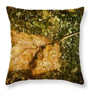 Microcosm Of Fall Throw Pillow