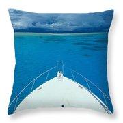 Micronesia, Boat Bow Throw Pillow