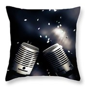 Microphone Club Throw Pillow