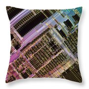 Microprocessors Throw Pillow