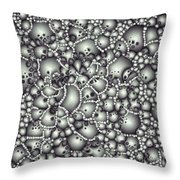 Microscopic Abstract Shapes Throw Pillow