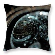 Microscopic IIi - Opale Throw Pillow by Sandra Hoefer