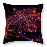 Microscopic Iv - Glass Jewels Throw Pillow