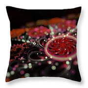 Microscopic V - Glitter Throw Pillow by Sandra Hoefer