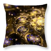 Microskopic Vii - Galaxy Throw Pillow