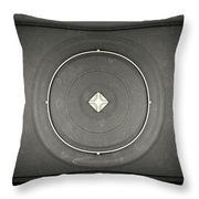 Microwave Top View Throw Pillow