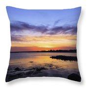 Mid April Sunset Throw Pillow