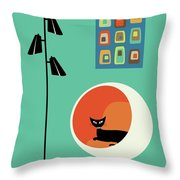 Mid Century Mini Oblongs Throw Pillow