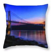 Mid-hudson Glow Throw Pillow