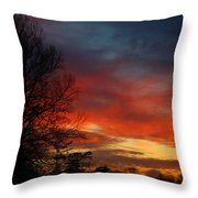 Mid-january Sunset Throw Pillow