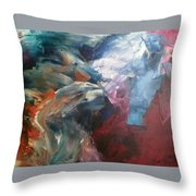 Mid Night Waves Throw Pillow
