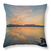 Mid-winter Sheer Throw Pillow
