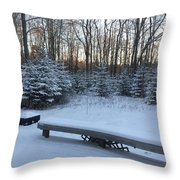 Midcoast Sunrise  Throw Pillow