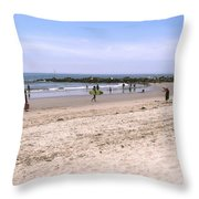 Midday At Venice Beach Throw Pillow