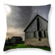 Midday Barn Throw Pillow