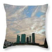 Midday In Miami 2 Throw Pillow
