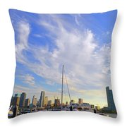 Midday In Miami Throw Pillow