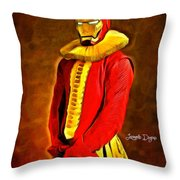 Middle Ages Iron Man Throw Pillow