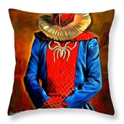 Middle Ages Spider Man Throw Pillow