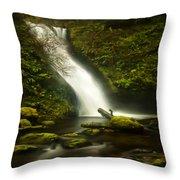 Middle Bridal Veil Falls Throw Pillow