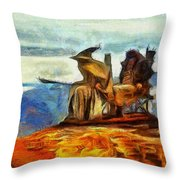 Middle Earth Airliner 3 - Da Throw Pillow