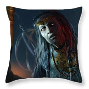 Middle-earth Shadow Of Mordor Throw Pillow