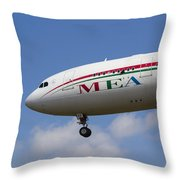 Middle Eastern Airlines Airbus A330 Throw Pillow