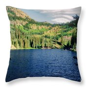 Middle Fork Lake Throw Pillow