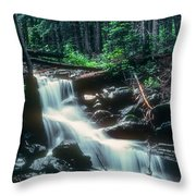 Middle Fork Red River Falls Throw Pillow