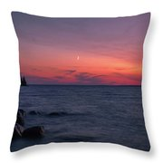 Middle Moon Throw Pillow