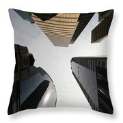 Middle Of The City Throw Pillow