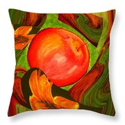 Middle Of The Garden Throw Pillow