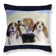 Middleburg Hounds Throw Pillow