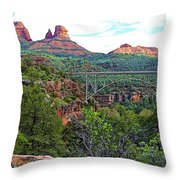 Midgley Bridge Throw Pillow