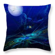 Midnight Abstract Throw Pillow