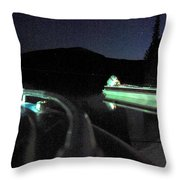 Midnight At Lake Diamond Throw Pillow