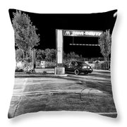 Midnight At Mickey D's Throw Pillow