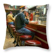 Midnight At Shorty's Throw Pillow
