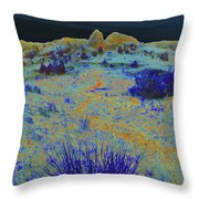 Midnight At The Burning Coal Vein Throw Pillow