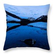 Midnight Atop Crow Pass Throw Pillow