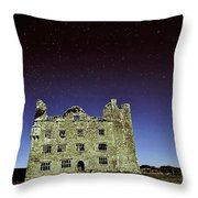 Midnight Blue At Leamanch Castle The Gateway To The Burren Throw Pillow