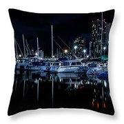 Midnight Blue II Throw Pillow