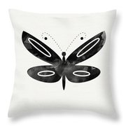 Midnight Butterfly 1- Art By Linda Woods Throw Pillow by Linda Woods