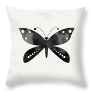 Midnight Butterfly 4- Art By Linda Woods Throw Pillow by Linda Woods