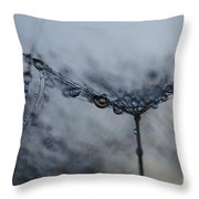 Midnight Drop  Throw Pillow