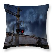 Midnight Flyer Throw Pillow