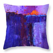 Midnight Glow Abstract Throw Pillow