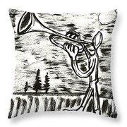 Midnight Horn Throw Pillow