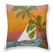 Midnight In The Gulf Of Mexico Throw Pillow