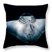 Midnight Manta Throw Pillow
